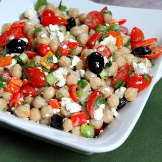 Mediterranean Chickpea Salad.