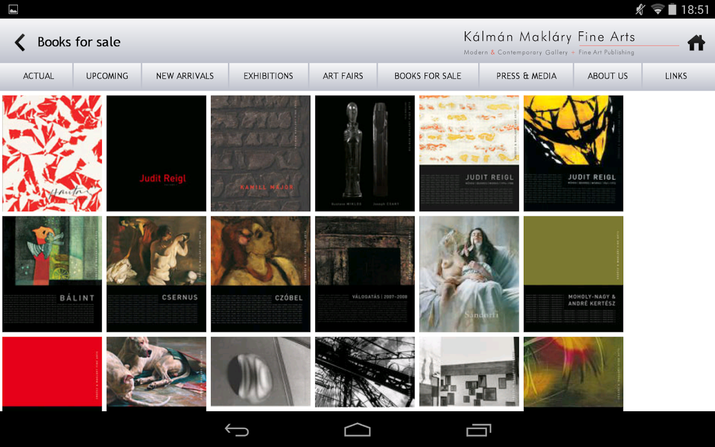 Kalman Maklary Fine Arts- screenshot