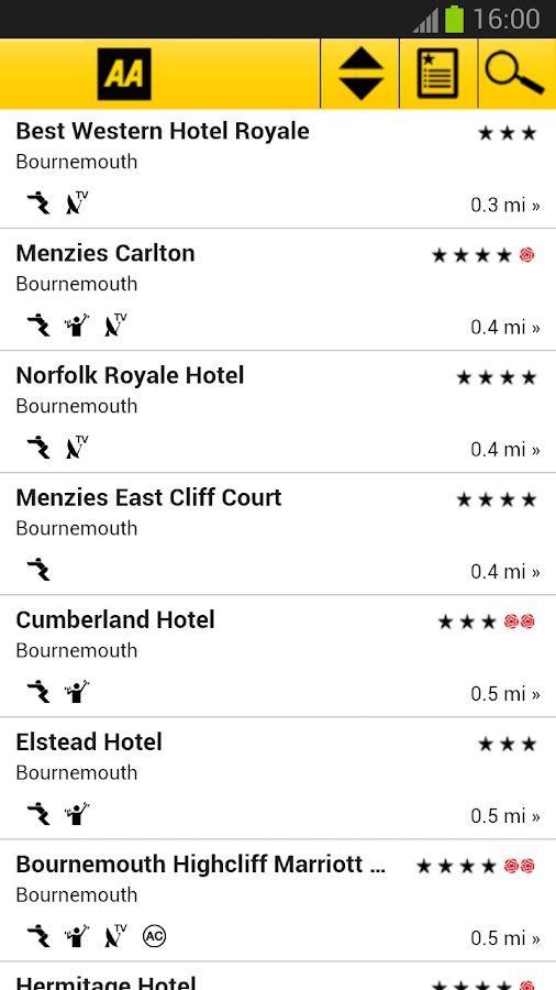2013 AA Hotel Guide - screenshot