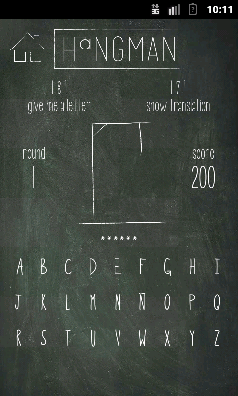 Hangman for Spanish learners - screenshot