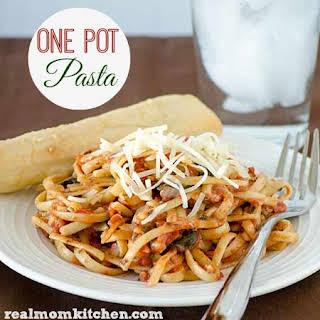 Easy One Pot Pasta.