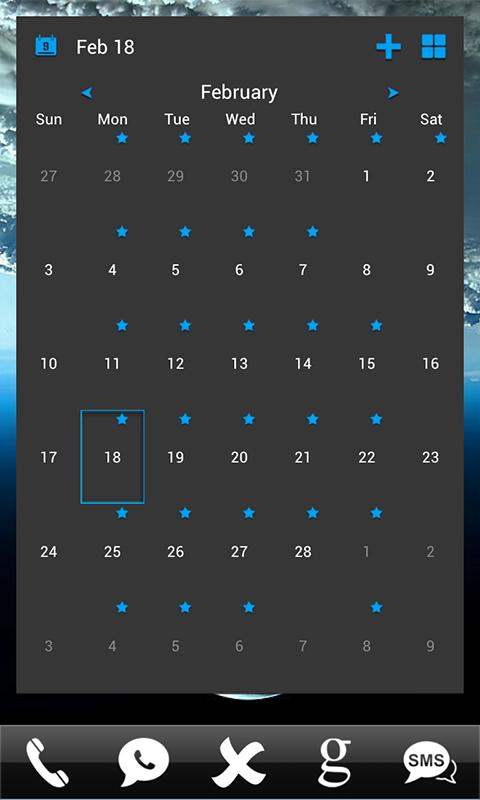 APW Themes: Blue(Dark)- screenshot