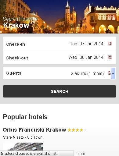 Krakow Hotel finder