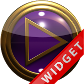 Poweramp Widget Purple Gold