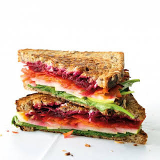 Goat Cheese and Vegetable Sandwich.