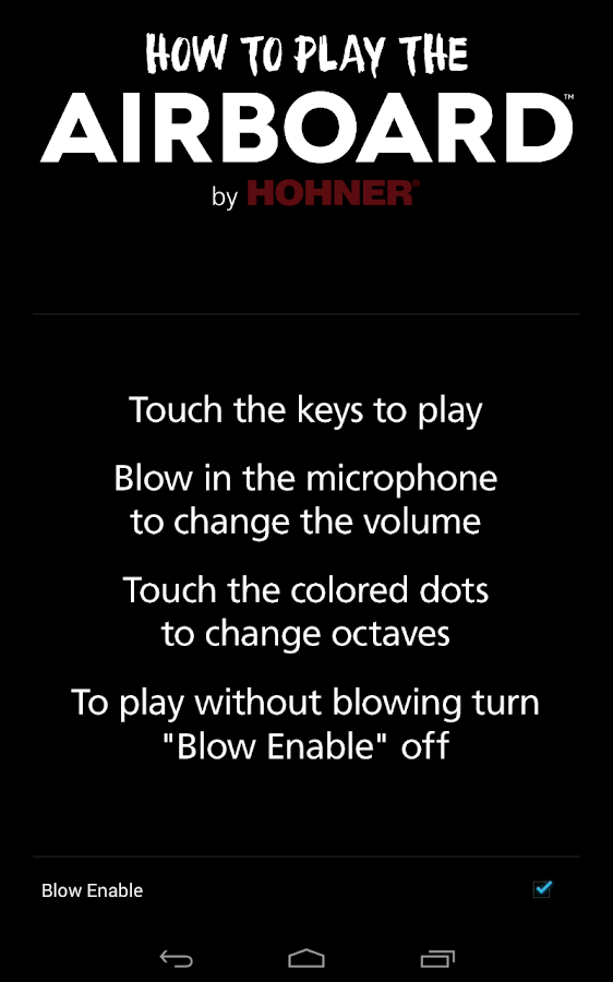 Hohner AirBoard- screenshot