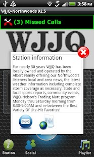 WJJQ-Northwoods 92.5 - screenshot thumbnail