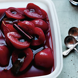 Scarlet Poached Pears