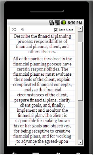 Cert Financial Planner CFP