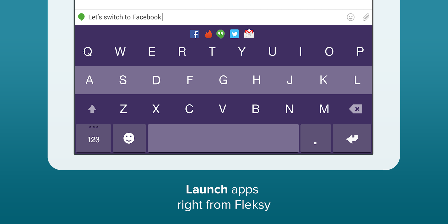 Fleksy Keyboard Trial - screenshot
