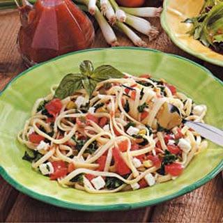 Spinach Tomato Linguine.
