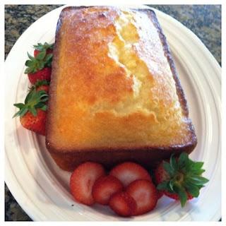 Lemon Yogurt Cake with Raspberry Puree