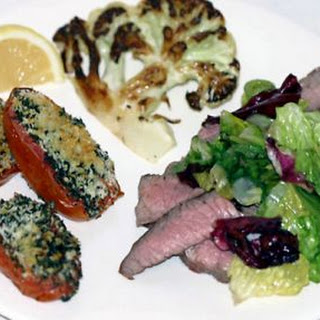 Flank Steak with Red Wine Vinegar and Greens Recipe