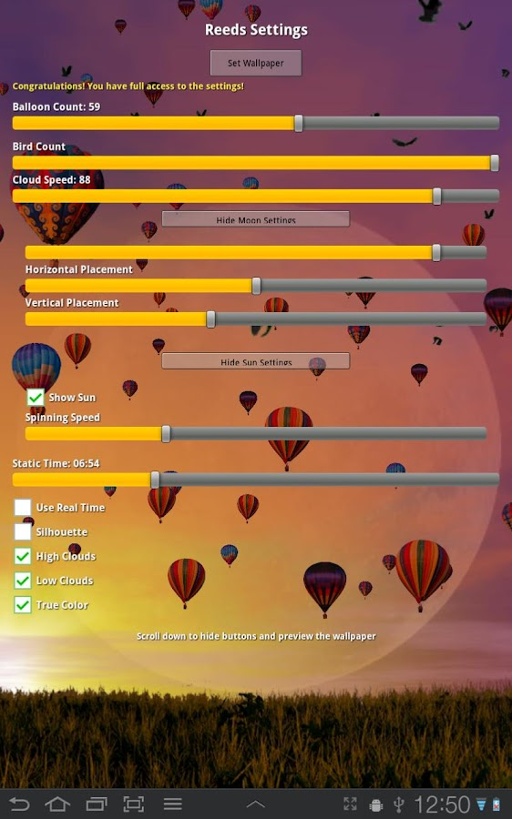 Hot Air Balloons Wallpaper Screenshot 2