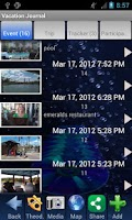 Screenshot of Vacation & Travel Journal