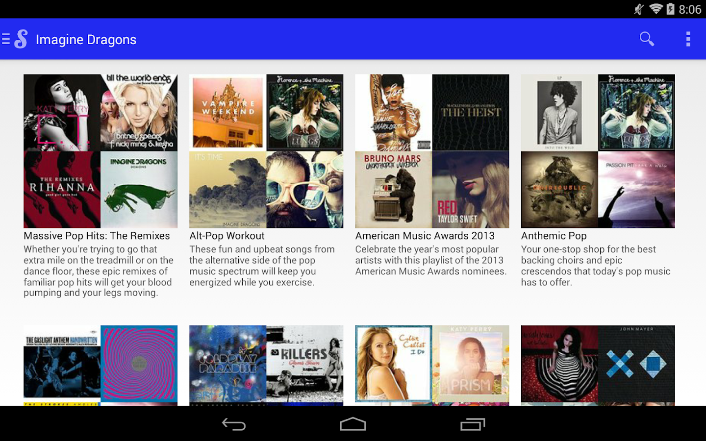 Songza- screenshot