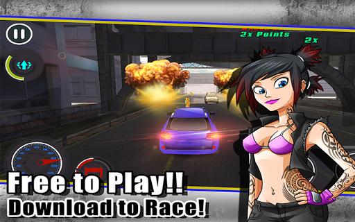 Hot Asphalt Traffic Race Car