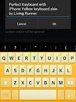 Screenshot of Cool Yellow Keyboard Skin