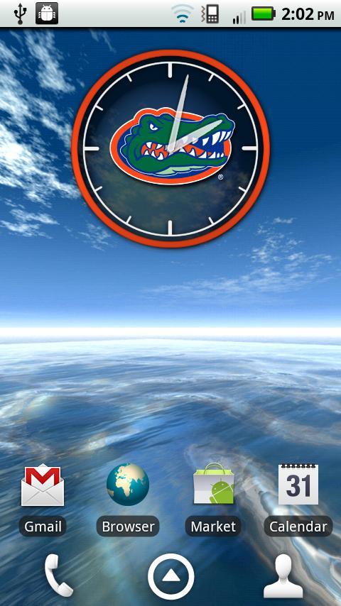 Florida Gators Clock Widget- screenshot