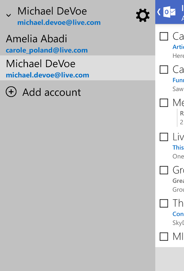 Outlook.com - screenshot