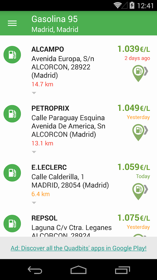 Gasoline and Diesel Spain- screenshot