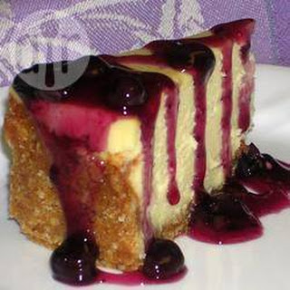 White Chocolate Cheesecake With Blueberry Sauce