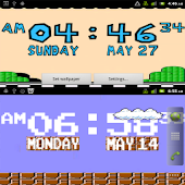 8 Bit Digital Clock Wallpaper
