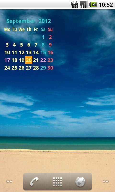 strCalendar2 (カレンダーウィジェット)- スクリーンショット