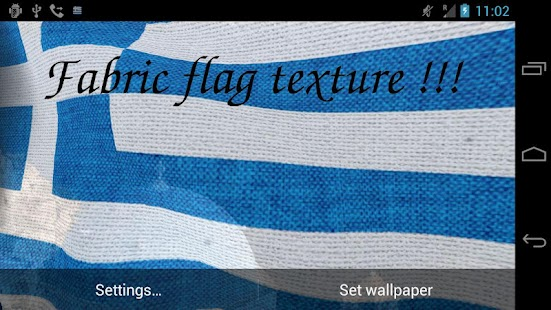 3D Greece Flag Live Wallpaper - screenshot thumbnail