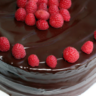 Chocolate Raspberry Layer Cake With Chocolate Ganache Frosting