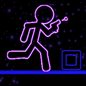 Glow Stick-Man Run: Neon Laser