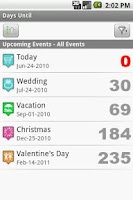 Screenshot of Days Until