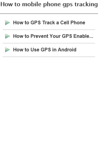 How to mobile gps tracking