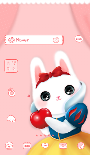 lovely snow white dodol theme