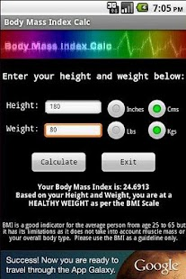 Body Mass Index Calc- screenshot thumbnail
