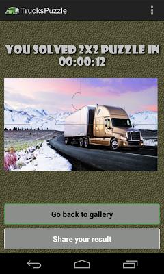 Trucks Puzzle Free - screenshot