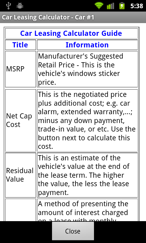 Car Lease Calculator Android Apps on Google Play – Lease Payment Calculator