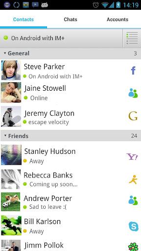 "Клиент ""IM+ Pro"" для планшетов на Android"
