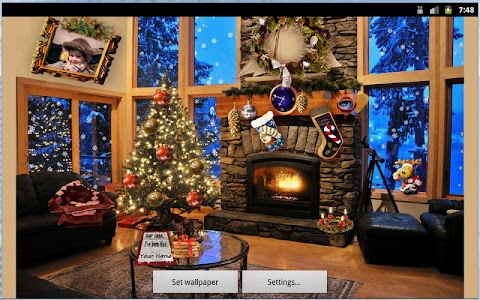 Christmas Fireplace LWP Full v1.15