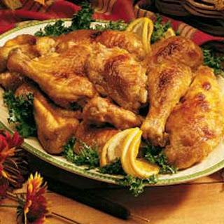 Honey-Glazed Chicken.