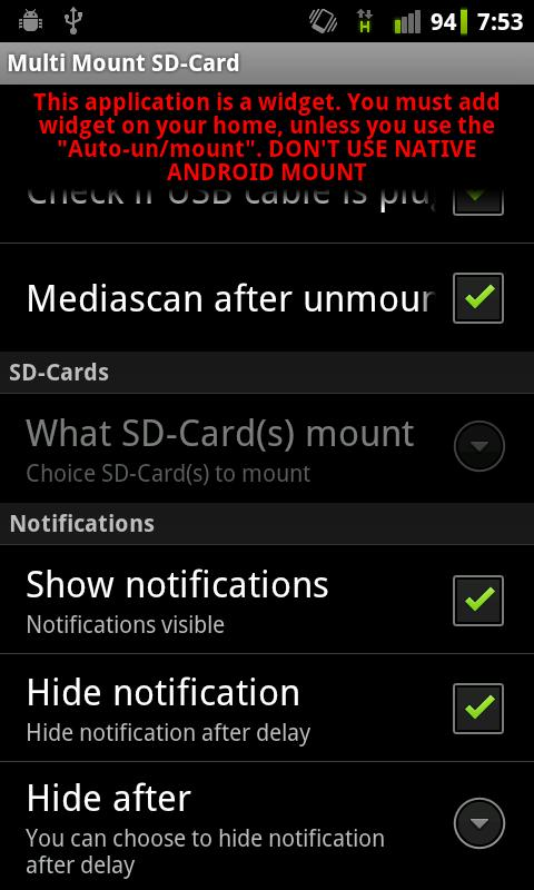 Multi Mount SD-Card Lite- screenshot