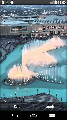 迪拜噴泉的動態壁紙