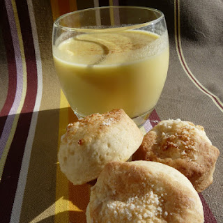 Yellow Pepper Soup with little Parmesan Scones.