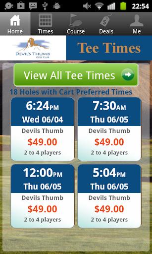 Devil's Thumb Golf Tee Times