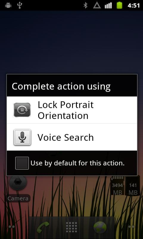 Lock Portrait Orientation - screenshot