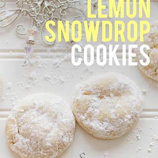 Chewy Lemon Snowdrop Cookies.