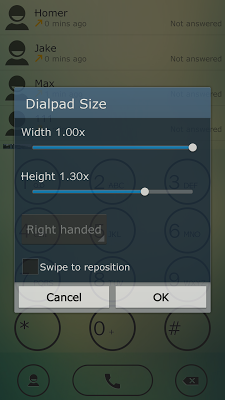 ExDialer Light Green Theme - screenshot