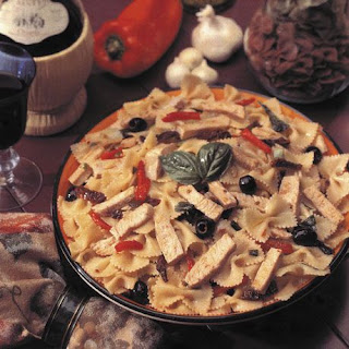 Farfalle With Turkey and Sundried Tomatoes.