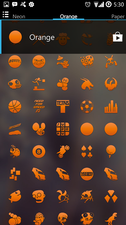 Orange Go Apex Nova Icon Theme - screenshot