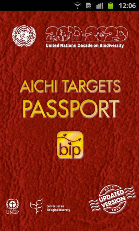Aichi Targets Passport - screenshot